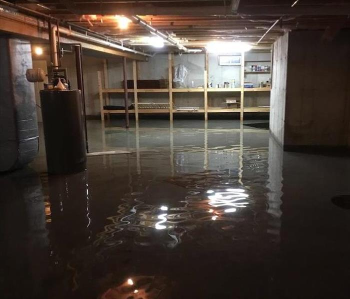 Flooding in a Merrimack Basement Before