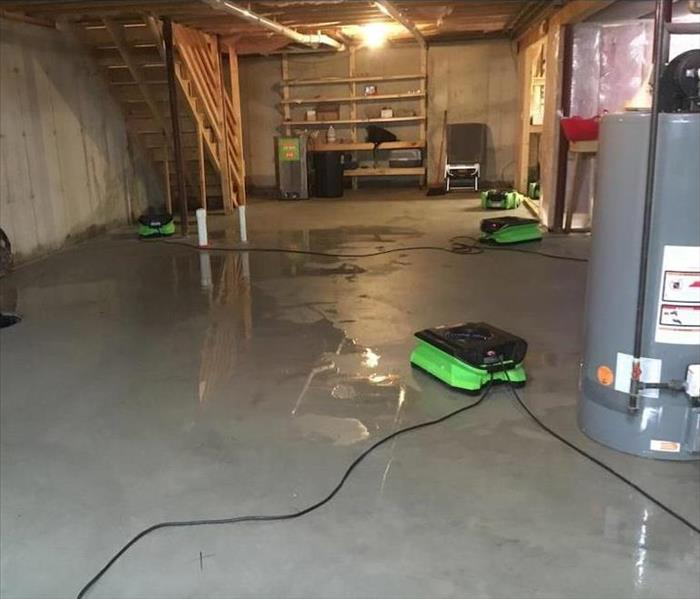 Flooding in a Merrimack Basement After